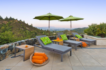 Low rock wall beautifully allows stunning view while providing safety