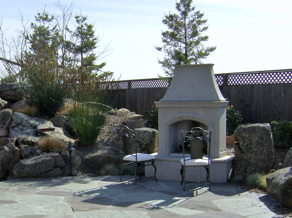 Modular outdoor fireplace in Santa Rosa