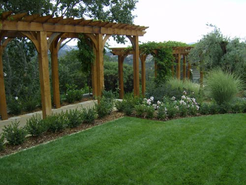 Wooden arbor and gazebo in Santa Rosa