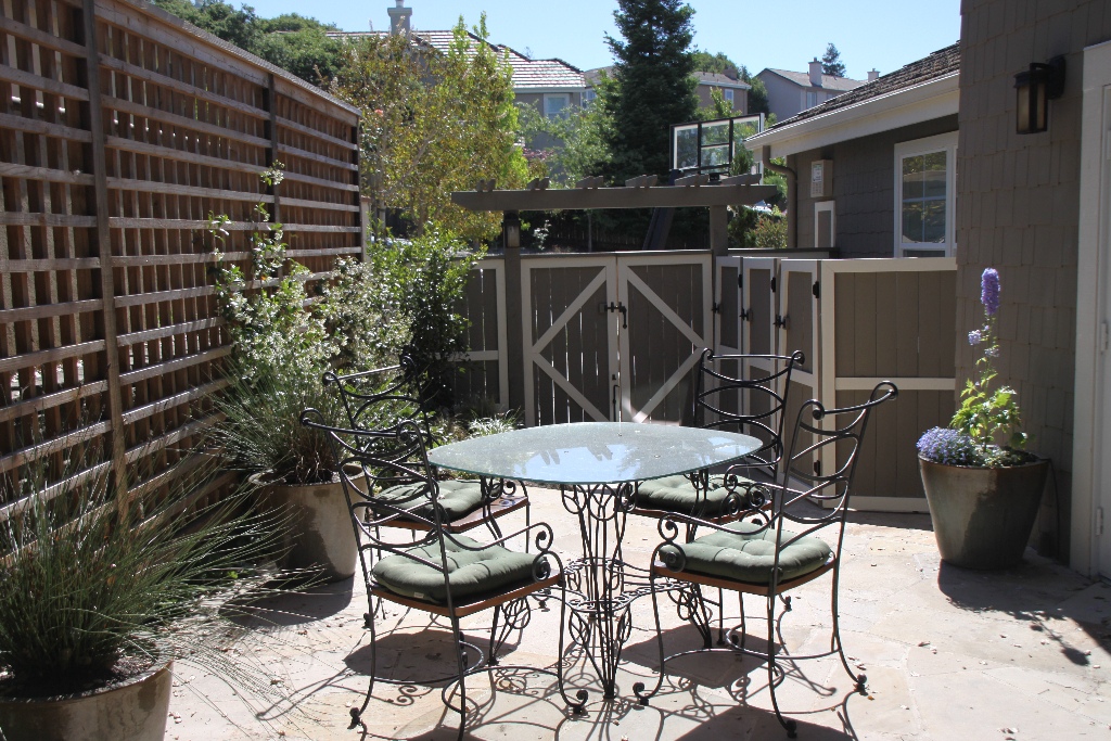 Privacy screen for patio sitting area in Sonoma County